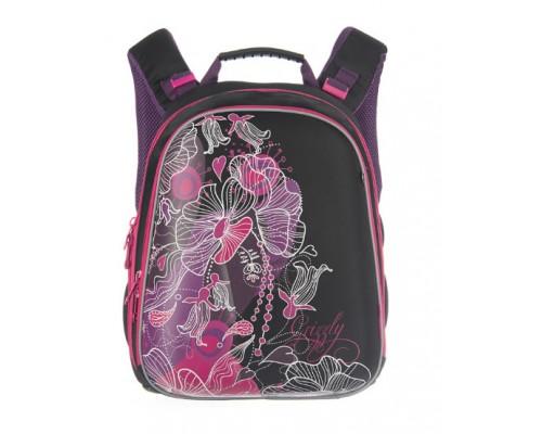 Рюкзак Grizzly RX-114-2/1 26*38*12см 2отд черно-розовый
