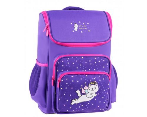 Ранец Спейс Happy School Cat 39*28*18см 1отд 4 кармана анатомическая спинка Uni_17680