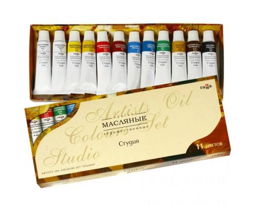 Набор масляных красок Гамма Студия 10цв+2 белых*9мл туба 203007