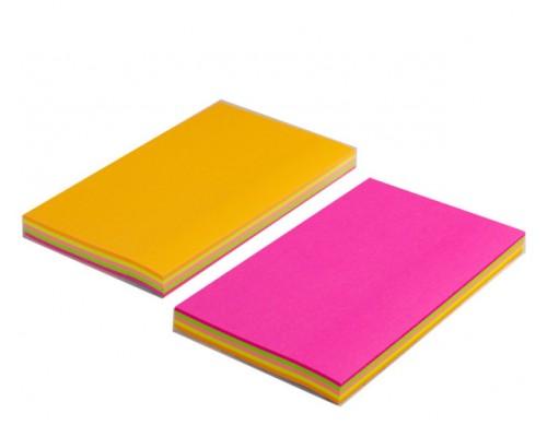 Бумага с клеевым краем Alingar 76*125мм 100л 4цв неон