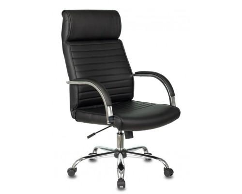 Кресло Бюрократ T-8010N черный кожзам крестовина металл хром