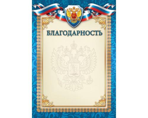 Благодарность Квадра простая 1504 РФ синий