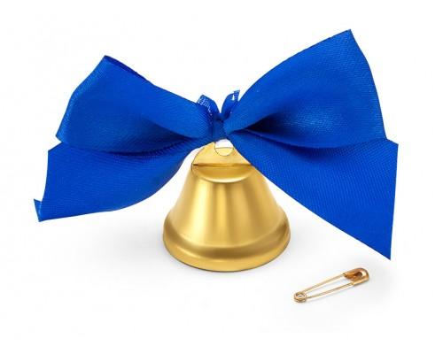 Колокольчик 25мм бант синий