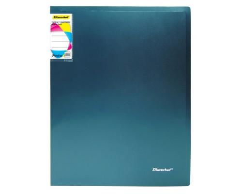 Папка 10 файлов Silwerhof Perlen 0,8мм зеленый металлик с карманом 292911-75