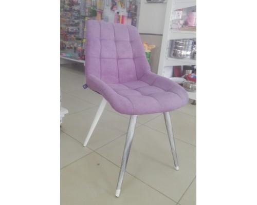 Стул Николь HN WHITE SORO-65 Фиолетово-серый