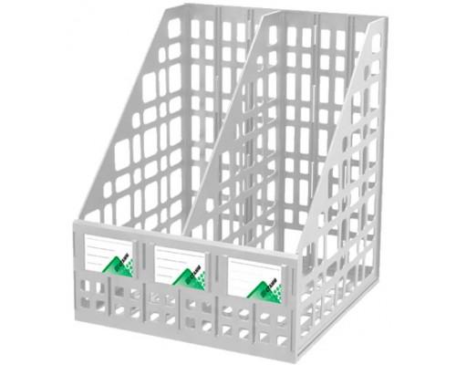Лоток вертикальный Стамм 2-отд сборный серый ЛТ815
