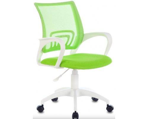 Кресло Бюрократ CH-W695NLT салатовый TW-03А/TW-18 сетка/ткань крестовина пластик белый