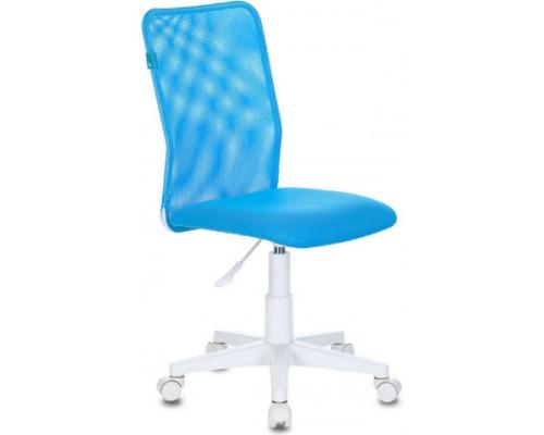 Кресло Бюрократ KD-9/WH/TW-55 голубой сетка/ткань