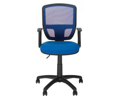 Кресло Альфа ЖТП ZT-07 ОН/3 Синее с синей сеткой