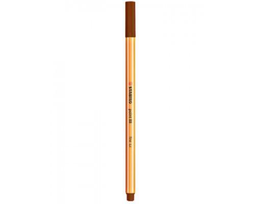 Ручка капиллярная Stabilo коричневая 88/45