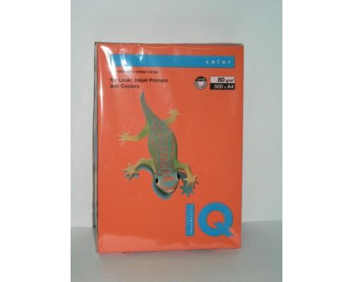 Бумага офисная IQ Color 80г OR43 А4 500л оранжевый Mondi