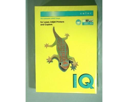 Бумага офисная IQ Color 80г NEOGB А4 500л желтый неон Mondi