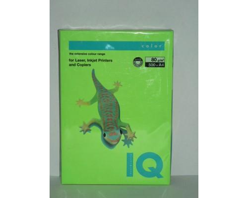 Бумага офисная IQ Color 80г NEOGN А4 500л зеленый неон Mondi