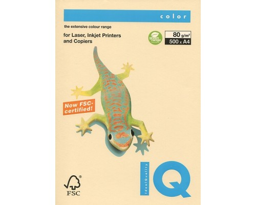 Бумага офисная IQ Color 80г CR20 А4 500л кремовый Mondi