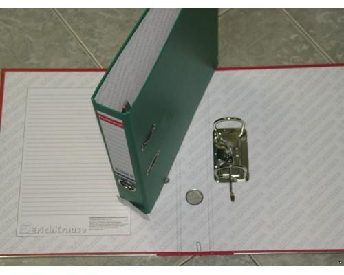 Папка-регистратор 50мм ЕК Стандарт зеленая собраные картон/ПВХ,металл.уголок,без кармана 275