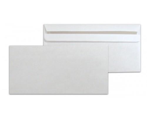Конверт 110х220мм евро белый отрыв.лента