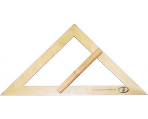 Угольник деревянный классный равнобедр.С370