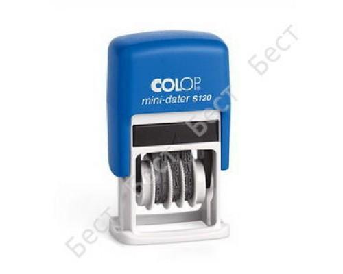 Датер Colop S120 мини 3,8мм банк 1стр месяц цифрами S120/BL Bank