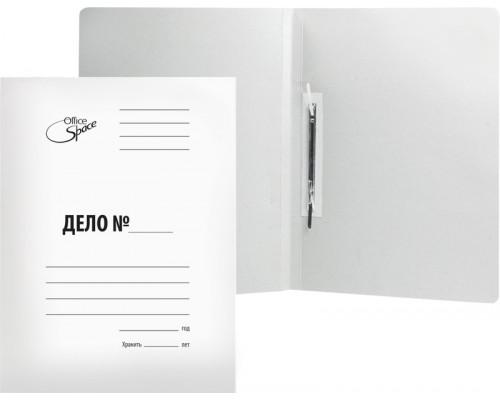 Скоросшиватель карт 220 г/м2 белый немелов A-SD22_343