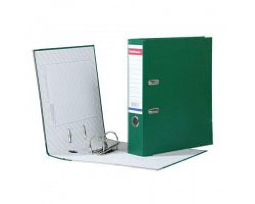 Папка-регистратор 70мм ЕК Стандарт зеленая собр метал.окантовка б/кармана 277