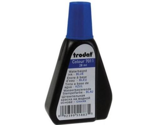 Краска штемпельная TRODAT 28мл синяя 7011с