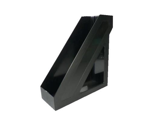 Лоток вертикальный Стамм Базис черный 100мм ЛТ32