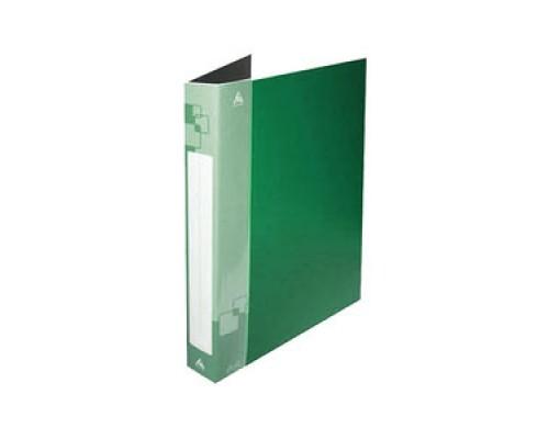 Папка 2 кольца Бюрократ 40мм с карманом зеленая