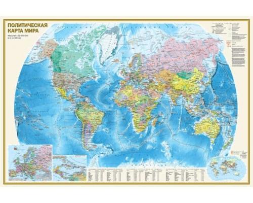 Карта МИРА политическая 1*32 000 000 1*1,5м