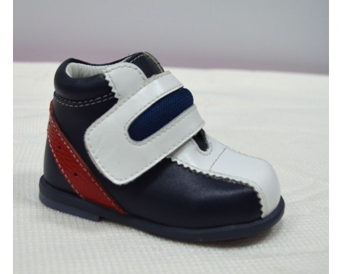 Ботинки д/мал Flamingo 4706QP (18) синий/белый