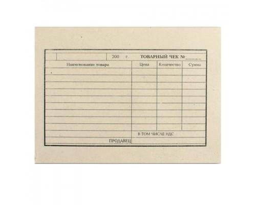 Товарный чек А6 100л газетка Brauberg 130015
