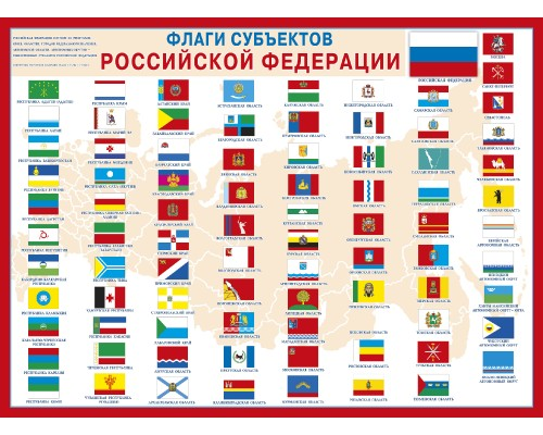 Плакат МП 941 Флаги субьектов РФ
