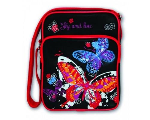 Сумка Феникс кожзам Красивая бабочка 21*27*9см 32742