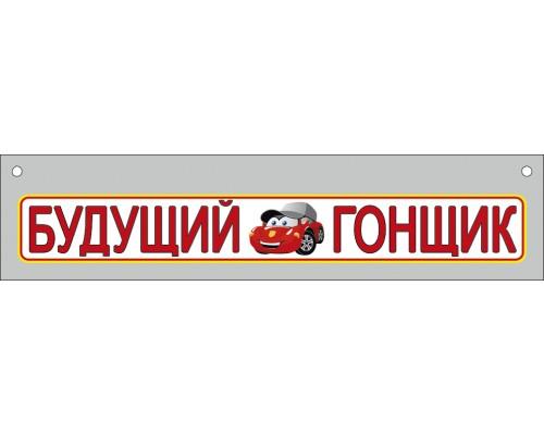Номер на коляску МП 893 Будущий гонщик
