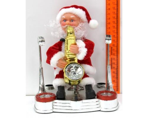 Декоративная фигура Санта Клаус В3056 с саксафоном