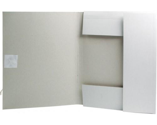 Папка для бумаг с завязками 280 г/м2 немелов картон