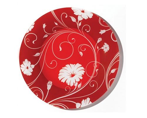 Тарелка плоская Pasabahce Серенад красная 195мм Б10327SLD3