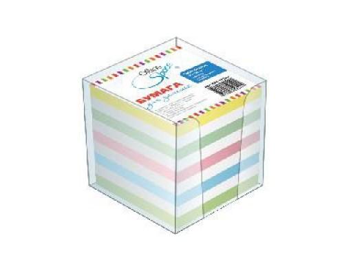 Блок бумаги OfficeSpace 9*9см 1000л цветной в стакане КБ9-10 Цсн
