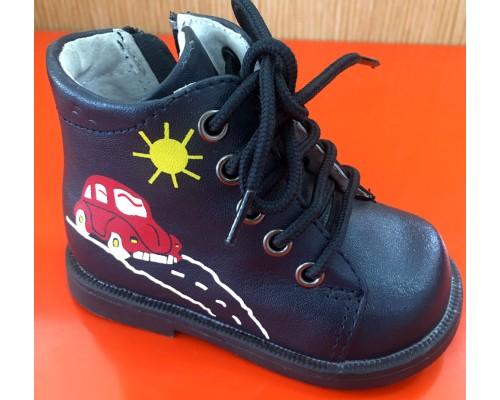 Ботинки синие Бамбини (19)