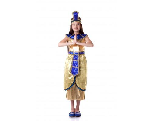 Костюм Клеопатра (платье-юбка с поясом,воротник,корона) р.34 Батик 908
