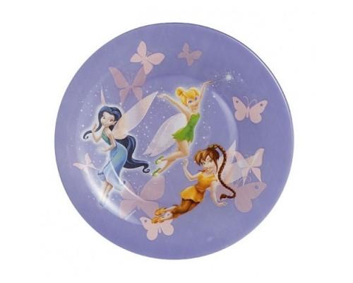 Тарелка плоская Luminarc 19см Disney Fairies десертная G8624СП
