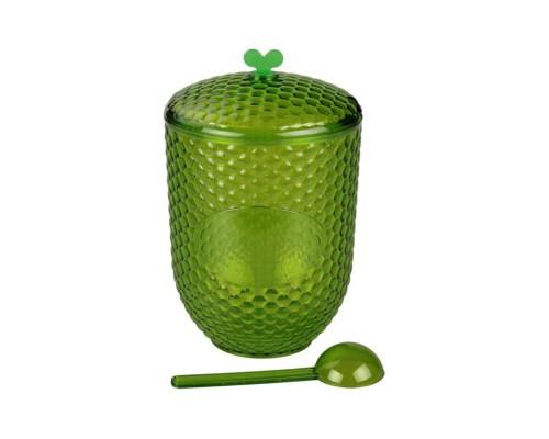 Ёмкость Мозаика 1л с ложкой зеленый А-М5200