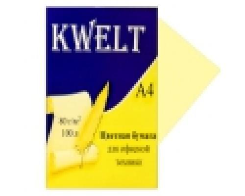 Бумага офисная Kwelt пастель А4 100л 80г/м кремовый