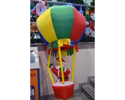 Фигура надувная Дед Мороз 210см на воздушном шаре 41283