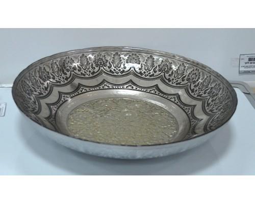 Салатник Rococo 33см серебро/старина 625033