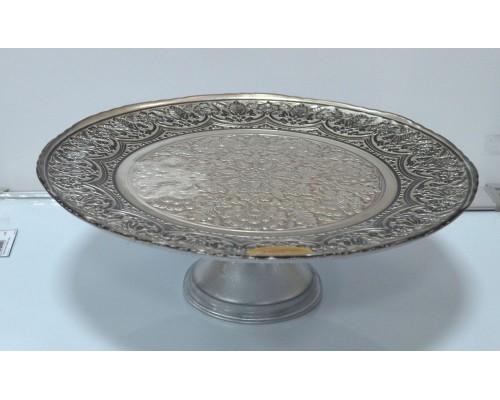 Тортовница Rococo 28см серебро/старина 325028PF