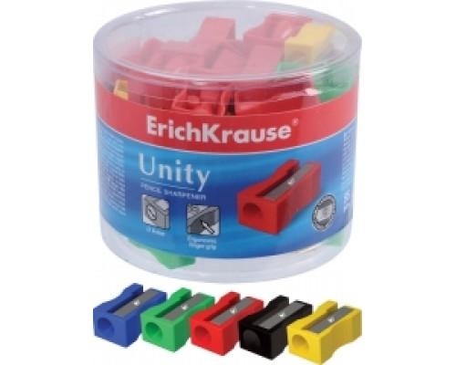Точилка Erich Krause Unity одно отверстие пл.стакан