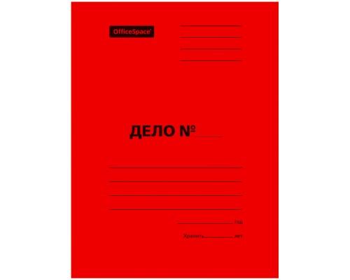 Скоросшиватель карт 300 г/м2 красный мелов пробитый Спейс