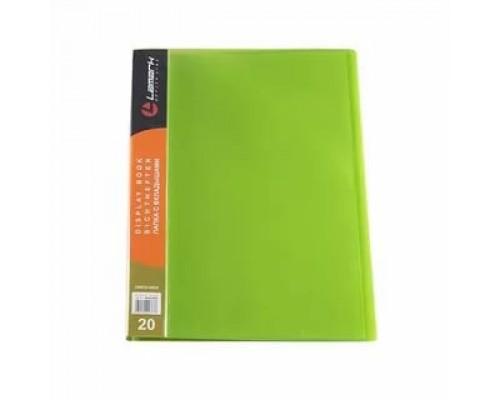 Папка 20 файлов Lamark IMac 0,6мм п/прозр зеленый DB0033-IMGN