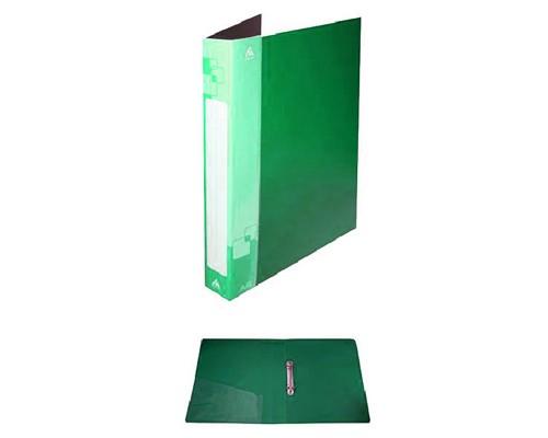 Папка 2 кольца Бюрократ 18мм 0,7мм зеленая