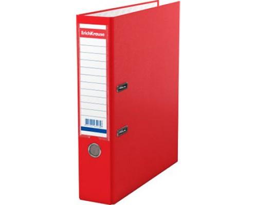 Папка-регистратор 70мм ЕК Granite красная собр (А4 картон/ПВХ, карман)